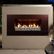 escea ef5000 outdoor propane fireplace bronze with new zealand river rock