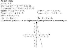 по алгебре класс Мордкович А Г упражнение ГДЗ по алгебре 7 класс Мордкович А Г 8 29 310 упражнение