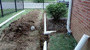foundation drainage pvc tile downspout