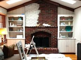 painted brick fireplace before and after painted brick fireplace before and after upscale wash then n