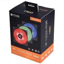 <b>Id cooling Xf 12025 rgb Trio</b> LED Case Fan 4pin PWM Temperature ...