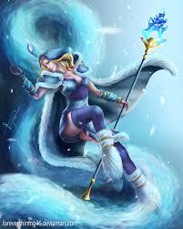 crystal maiden dota 2 fanart by azaggon cards fantasy