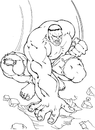 25 Popular Hulk Coloring Pages For