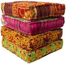 Ethnic floor cushions Thick 25 Kantha Floor Cushion Meze Blog Alepsicom Kantha Floor Pillows Alepsicom For