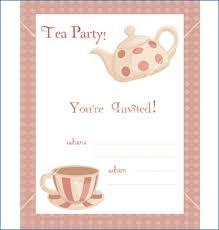 tea party templates tea party invitations template rome fontanacountryinn com
