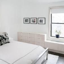 bedroom designs with white furniture. Bedroom - Contemporary Dark Wood Floor Idea In New York With White Walls Designs Furniture