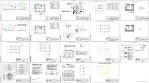 Курсовые и дипломные проекты коттеджи дачи скачать котедж в dwg  Курсовой проект Индивидуальный 2 х этажный жилой дом 207 3 м2 в г