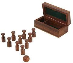 Wooden Games For Adults Impressive RoyaltyLane Indian Bowling Game Indoor Handmade Miniature Wooden