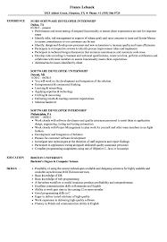 Software Developer Internship Resume Samples Velvet Jobs