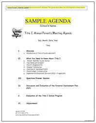 Sample Of Agenda 15 Formal Meeting Agenda Sample Leterformat