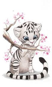 baby white tigers drawing. Perfect White I Am In Love With White Tigers Especially Baby Throughout Baby White Tigers Drawing M