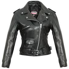 hot leathers women s usa made classic black leather jacket