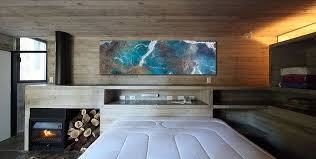 view in gallery gorgeous wall art adds color to the contemporary bedroom from john wolf fine art