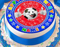 Edible Soccer Ball Cake Decorations Soccer ball cake Etsy 63