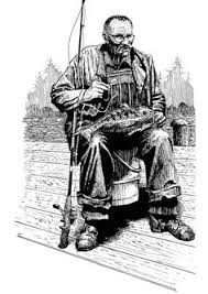 Small Picture Coloring page Fisherman Adult colouring in printables Pinterest