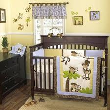 monkey themed baby bedding monkey time four piece crib set pair with the the monkey monkey