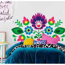 wall decals mexican headboard flowers on wall art vinyl decal sticker headboard with wall decals thewonderwalls headboard with mexican flowers wall