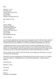 Vet Assistant Cover Letter Cover Letter Veterinary Cover Letter