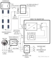 pv wiring diagram wiring diagram schematics info grid tie solar power system