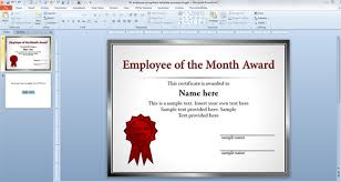 Star Of The Month Certificate Template Free Employee Of The Month Template For Employee Recognition In