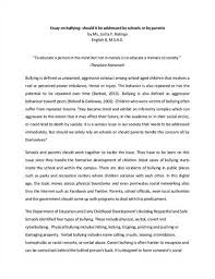 physical effects of bullying essay thesis psychological effects of bullying essay