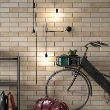 melo beige rustic brick effect wall