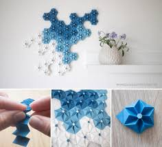 diy origami flowers wall decor ideas projects