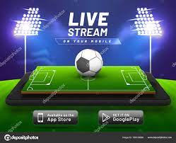 Football match, live streaming concept, with stadium on a smart ⬇ Vector  Image by © alliesinteract