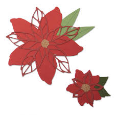 Poinsettia Designs Sizzix Thinlits Die Set 8pk Poinsettia