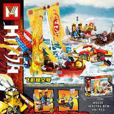 Đồ chơi lắp ráp Lego Ninjago MG 230 Xếp Mô Hình Minifigures Thuyền Rồng  Ninja Season Phần 13 gồm 394 chi tiết