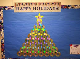 Decorations Recycled Christmas Tree Ideas 2016 For Classroom Door Classroom Christmas Tree
