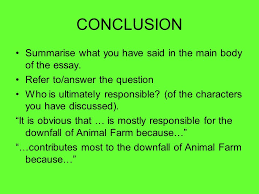 animal farm writing a critical essay question animal farm  33 conclusion summarise