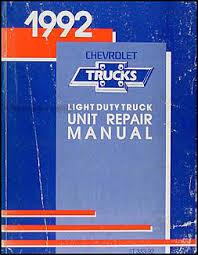 1992 chevy 1 2 3 4 1 ton truck overhaul manual original