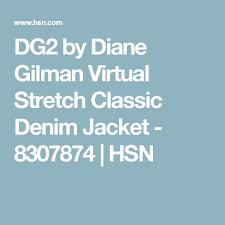 Hsn Size Chart Dg2 By Diane Gilman Virtual Stretch Classic Denim Jacket