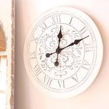 Modern Living Room Design with White Damask Extra Large Wall Clocks, Black  Carving Central Damask