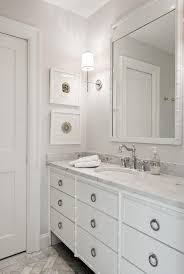 White Bamboo Bathroom Vanity Transitional Bathroom