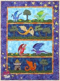 12 best Quilts about Medieval Times images on Pinterest | Baby ... & Little Dragons Everywhere Quilt Applique Pattern by Needlesongs Adamdwight.com