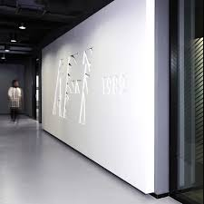 office nike air force. brand installation at nike office in beijing representing the sneaker airforce 1982 air force