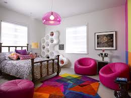 bedroom ideas for teenage girls with medium sized rooms. Contemporary Ideas View In Gallery Vivacious Teen Girlsu0027 Bedroom With Multicolored Rug From  Sonya Winner Rugs Design For Bedroom Ideas Teenage Girls With Medium Sized Rooms