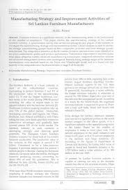 major furniture manufacturers. (PDF) Manufacturing Strategy And Improvement. Major Furniture Manufacturers G