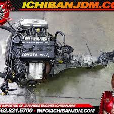 JDM TOYOTA 4AGE 16 VALVE RWD COROLLA GT-S AE86 84-87 MOTOR ENGINE ...