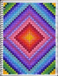 Rainbow Diamond Ideas Graph Paper Drawings Graph Paper Art
