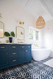 25 stylish blue and gold bathroom decor