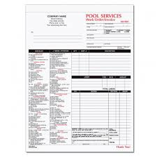 Spa Pool Business Invoice Forms Work Order Designsnprint Pool