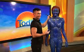 colin wilson x men mystique body paint channel 9 starnow