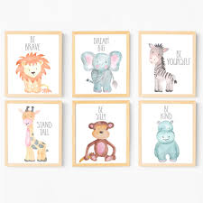 baby animal paintings watercolor nursery wall art safari  on baby safari nursery wall art with safari nursery art animal nursery decor watercolor baby animals