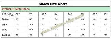 Us Foot Size Chart Faithful Shoe Size Chart China Us Size Chart For Shoes Uk
