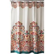 brown and aqua shower curtain. kara shower curtain brown and aqua