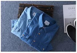 <b>2019 Summer</b> 100% Cotton <b>Men</b> Short Sleeve Denim thin <b>Shirt</b> Soft ...