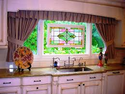 Kitchen Curtain Designs Kitchen Curtains Ideas And Window Treatments Design Also Granite